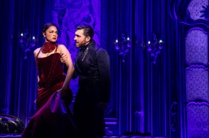 Karen Olivo as Satine and Tam Mutu as The Duke of Monroth
