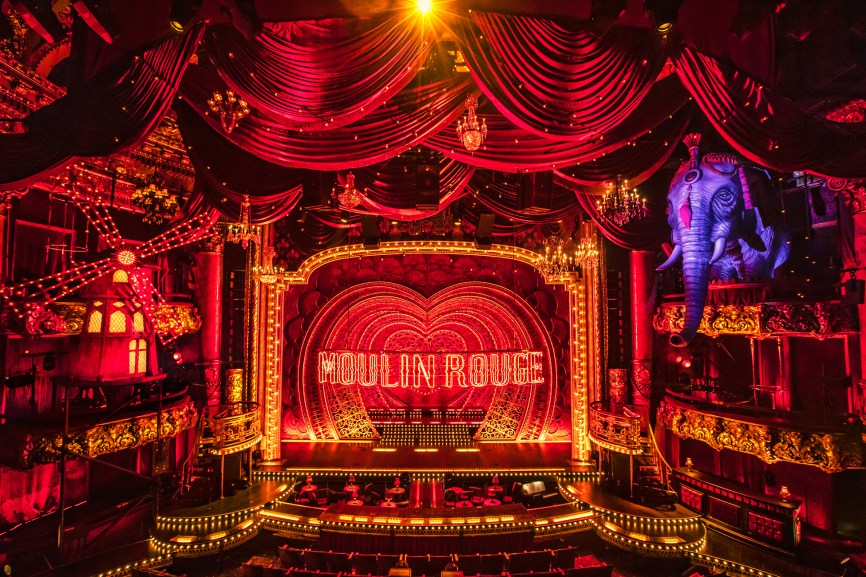 Moulin Rouge set