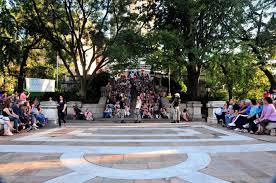 A production at Riverside Park's Soldiers and Sailors Monument