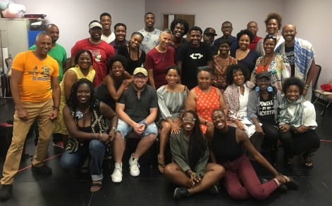 """The producers, writers, directors and cast who put together the six original plays in """"48 Hours in Holy Ground"""" within 48 hours. Inspired by six classic African American plays, these brief two- or three-character works had their own rhythm and beauty and humor and force."""