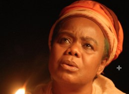 Mother to Mother. The one show from a theater company outside of the United States, this adaptation of Sindiwe Magona's novel, produced by Spirit Sister Productions of Cape Town, South Africa and performed by Thembi Mtshali tells the story of a South African mother whose son is accused of killing a young white American woman, who was in South Africa to help fight apartheid. The South African mother addresses victim's mother.