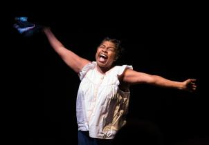 Richarda Abrams in First by Faith. Photo by Allison Lee Levy, Winston-Salem Journal.