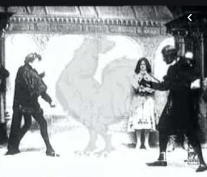 from 1900 film of Sarah Bernhardt in Hamlet