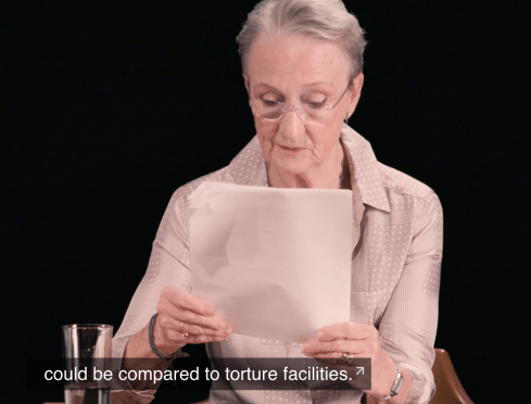 Kathleen Chalfant reading pediatrician testimony in the Flores Exhibits online