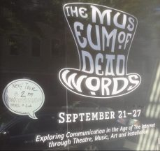 Museum of Dead Words storefront