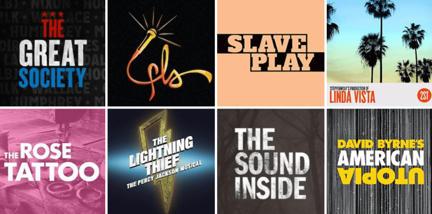 Broadway logos October 2019 openings