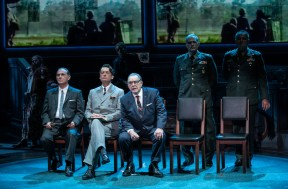 Angela Pierce, Richard Thomas as Humphrey, Frank Wood, Robyn Kerr, Brian Cox as LBJ, Marc Kudisch and Brian Dykstra