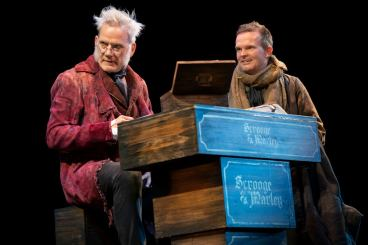 Carol 5 Campbell Scott as Scrooge and Dashiell Eaves as Bob Cratchitt