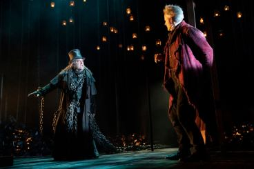 Carol 7 Chris Hoch as Marley and Campbell Scott as Scrooge