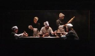 "Christopher Gurr, Hillary Fisher, Nehal Joshi, Josh A. Dawson and Scott Stangland in ""Cyrano,"""