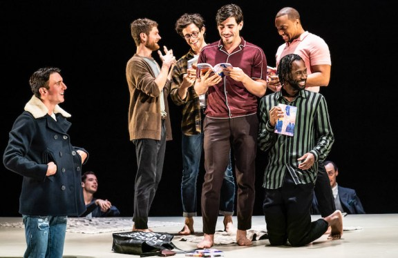 The Inheritance: Samuel H. Levine as Adam, Kyle Soller as Eric, Kyle Harris as Jasper, Arturo Luís-Soria as Jasper2, Jordan Barbour as Tristan, and Darryl Gene Daughtry Jr. as Jason1