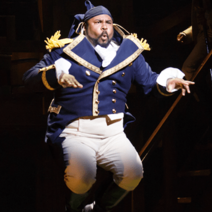 James Monroe Iglehart in Hamilton 2019 for featured image