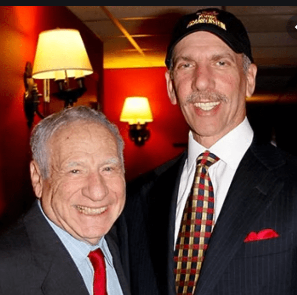 Mel Brooks with The Producers producer Robert F.X. Sillerman