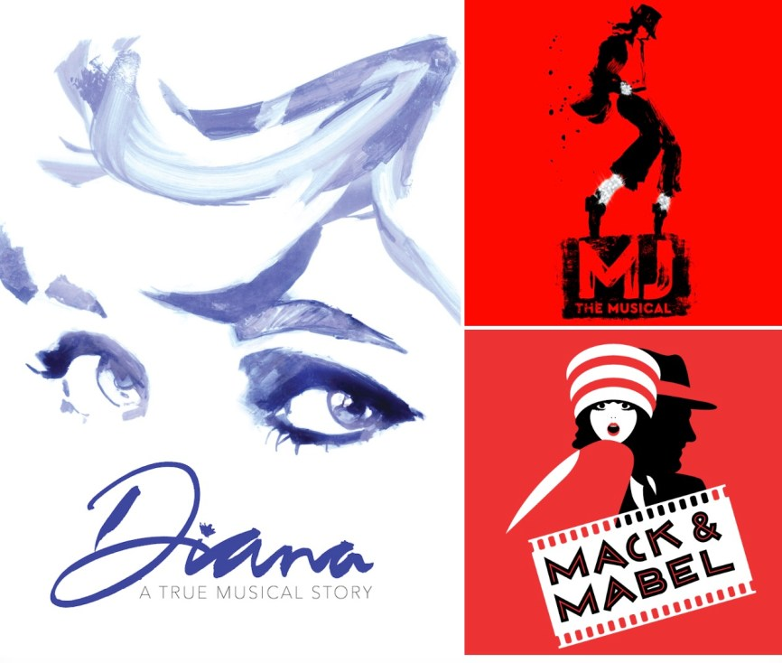 Complete cast lists below of Diana, MJ the Musical, Mack and Mabel, plus Birthday Candles, and Intimate Apparel