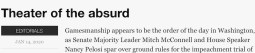 Leader-Herald impeachment theater headline