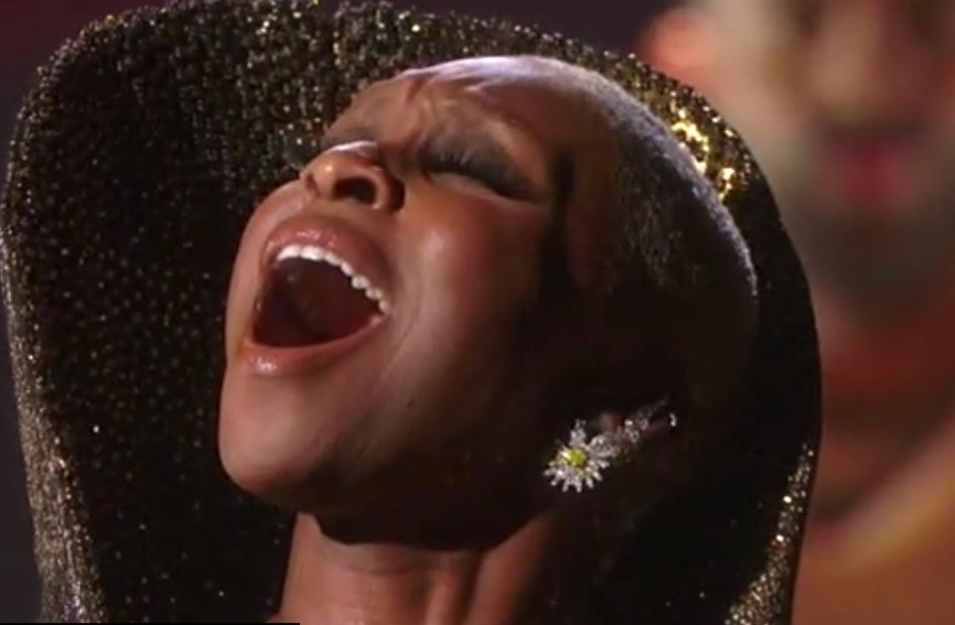 """Cynthia Erivo singing """"Stand Up"""" at the Oscars, the Oscar-nominated song she co-wrote for """"Harriet,"""" the movie for which she gave an Oscar-nominated performance. Erivo is the Tony Award winner for The Color Purple -- she also won a Grammy for The Color Purple album, and an Emmy for singing from it on TV. Had she won either of the two Oscars for which she was nominated at the 92nd Academy Awards, that would have meant an EGOT for her. But the Oscars were not a night for black people, or women, or Broadway veterans."""