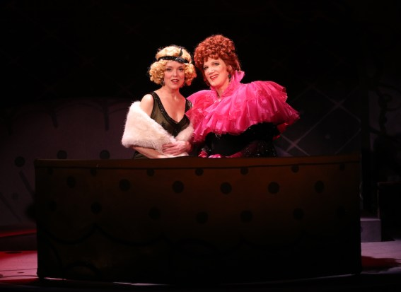 Nancy Anderson & Charles Busch in THE CONFESSION OF LILY DARE when it was on stage Off-Broadway
