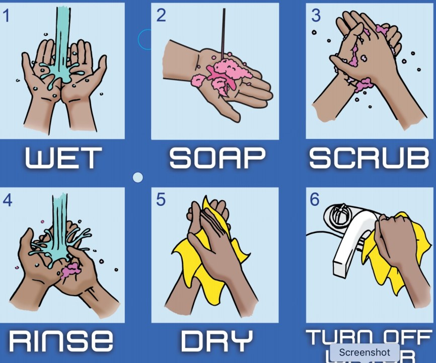 part of a hand washing poster from the New York City Department of Health