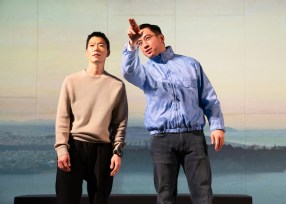 Aaron Yoo and Johnny Wu as son and father