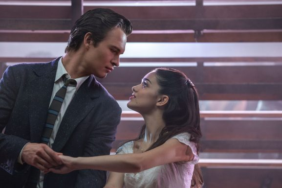 "Ansel Elgort and Rachel Zegler as the star-crossed lovers Tony and Maria in the Steven Spielberg film ""West Side Story"" due out on December 8, 2020."