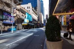 Empty Broadway March 2020
