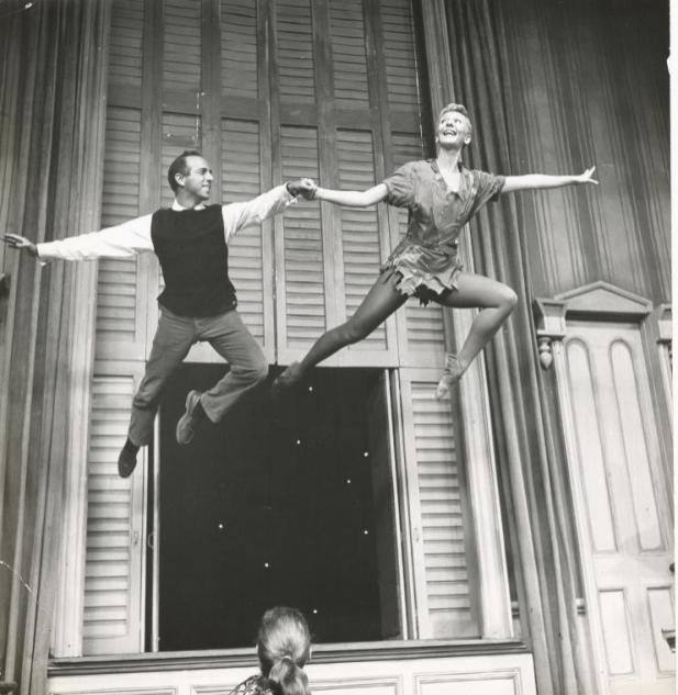 with Jerome Robbins (!) in Peter Pan