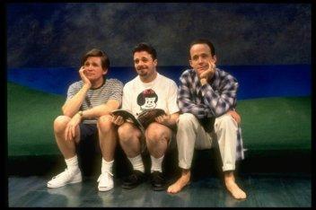 Love! Valour! Compassion!, 1995 -- Nathan Lane between Anthony Heald and John Benjamin Hickey