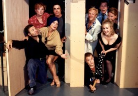 Patti LuPone and cast of Noises Off 2001