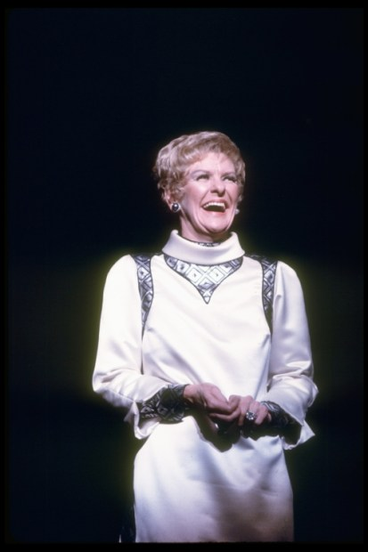 "Elaine Stritch in a scene from the Broadway musical ""Company,"" 1970"