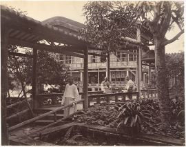 Way to the Theater Pon-Jing-Quais Garden, Canton ca. 1869 Attributed to John Thomson