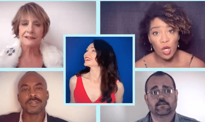"The opening number of ""Company"" sung by the cast of the fifth Broadway production as a video created in June because the show, which began previews on March 2nd, was shut down before its official opening."
