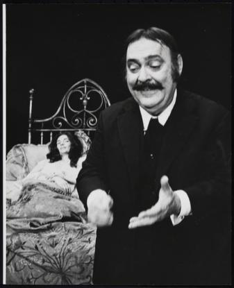 Fionnuala Flanagan and Zero Mostel in Ulysses in Nighttown 1974, a stage adaptation of James Joyce's Ulysses