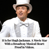 H is for Hugh Jackman