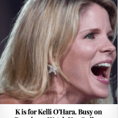K is for Kelli O'Hara