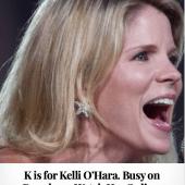K is for Kelli O'Hara