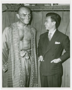 Yul Brynner (The King) and Prince Sukhsuasti of Thailand