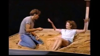 "Timothy Daly and Annette Bening in ""Coastal Disturbances"" in 1987"