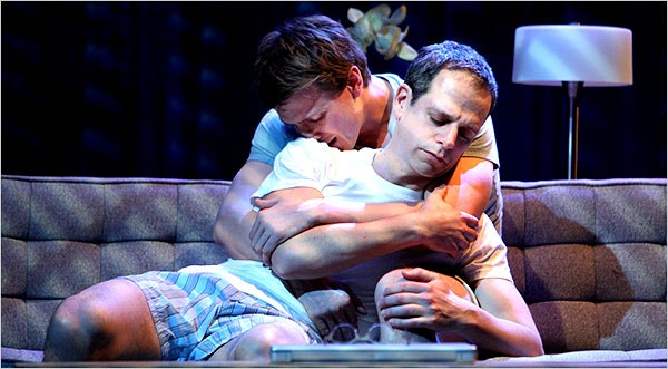 Patrick Heusinger, rear, and Patrick Breen in 2010 on Broadway