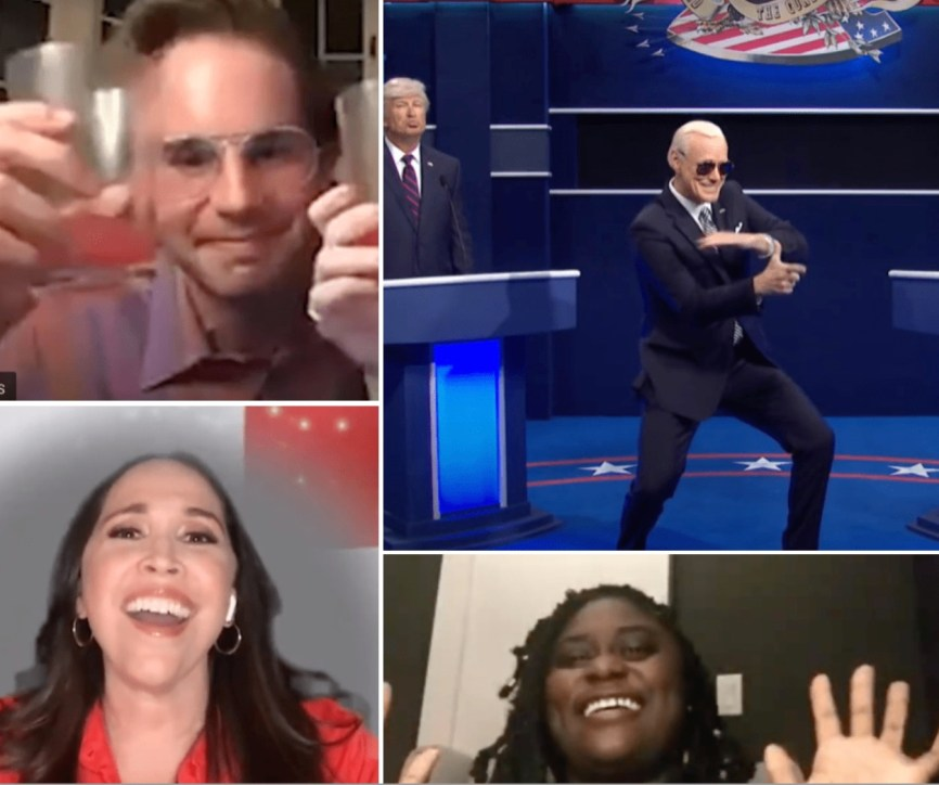 In this week's videos, Ben Platt as a college student toasts the third year of quarantine; Jim Carrey portrays a hip Joe Biden; Danielle Brooks waxes nostalgic about Broadway and Andrea Burns celebrates the Latinx voices of Broadway. (See all four videos below.)