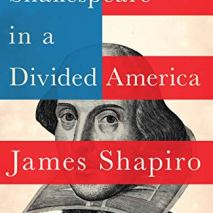 Shakespeare in a Divided America book cover red white and blue