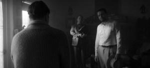 MANK (2020) Gary Oldman as Herman Mankiewicz, Sam Troughton as John Houseman and Tom Burke as Orson Welles.