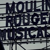 Moulin Rouge darkened marquee