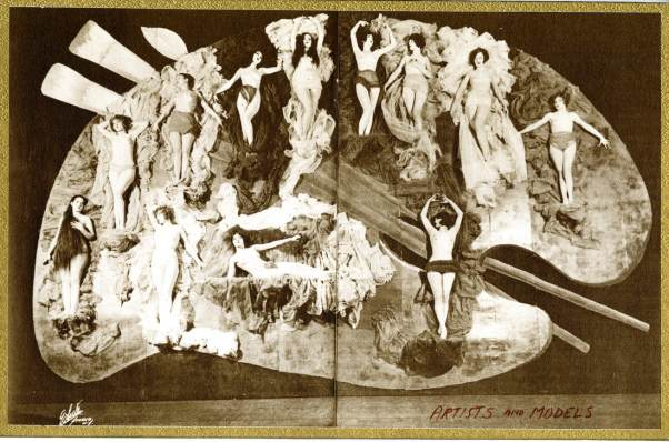 The Living Palette from the second edition of ARTISTS AND MODELS, Astor Theatre, 1924.