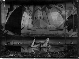 """Josephine Baker performing at the Folies Bergere in 1926. Based on her Parisian triumphs, the Shuberts hired her as one of the stars for their ZIEGFELD FOLLIES OF 1936. Unfortunately, she found a lukewarm reception on Broadway, and remained with the show for only a few months. In her book """"The Many Faces of Josephine Baker"""" (2015), biographer Peggy Caravantes points out that Baker was the first and last black woman ever to appear in a Ziegfeld Follies."""