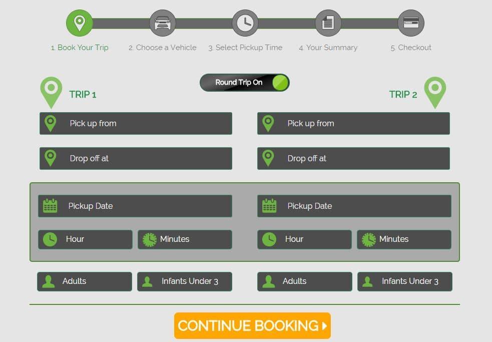 shuttle,navette,partagée,aéroport,hôte,trajet,prix,transportation,réservation,GoAirlink