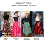 Celebrity Trend: Tea-Length Party Dresses