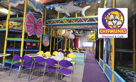 Entry for 2 Kids & 2 Adults: Weekday ($15.90) or Weekend ($19) @ Chipmunks Playland And Cafe New Lynn (Up to $31.80 Val)
