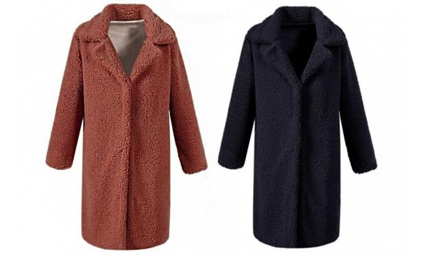 Womens Teddy Fleece Coat: One ($29) or Two ($49)