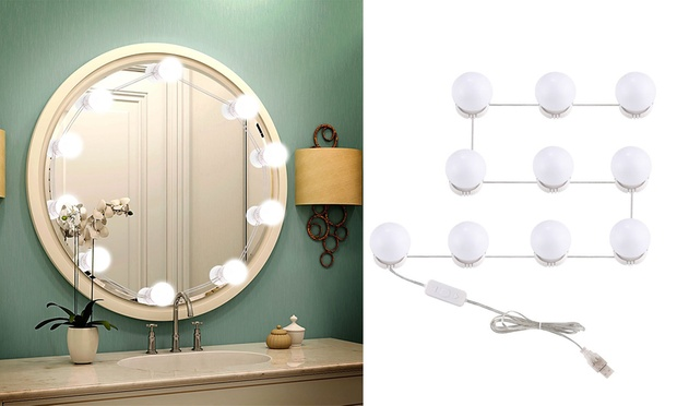 10 Piece Vanity Mirror Light Bulbs with USB: One ($35) or Two ($65)