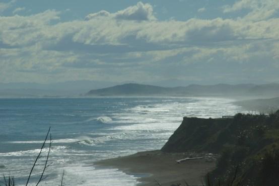 raue Wellen an der Hawke´s Bay